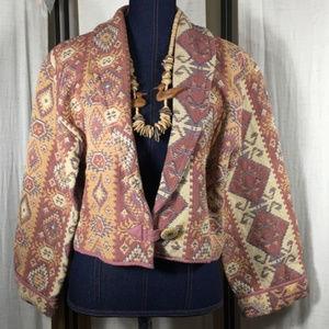 Vintage Flashback Southwestern Bolero Crop Jacket